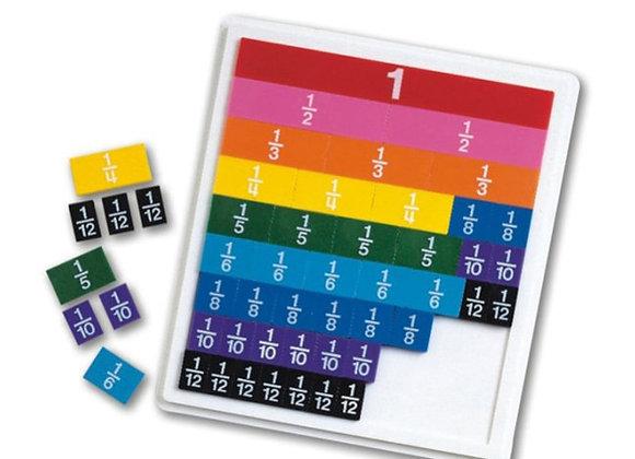 Tabla de fracciones de colores