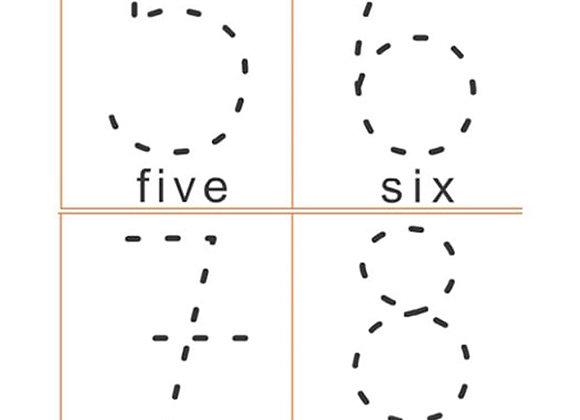 Números para completar en ingles x 25 tamaño: 5.8x4.3 cm