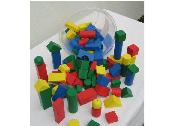 bloques en madera tarro