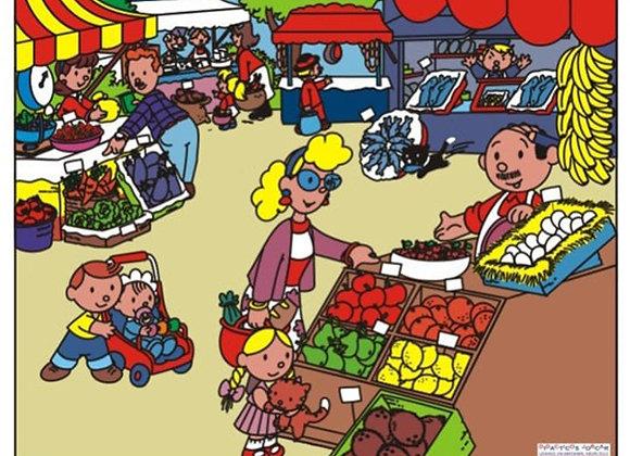 Rompecabezas gigantes plaza de mercado