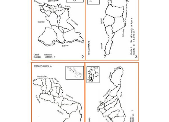 Mapas de Venezuela x 40 tamaño: 12.9x9.6 cm
