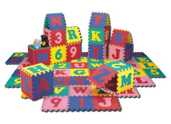 Cubos rompecabezas de abecedario y números