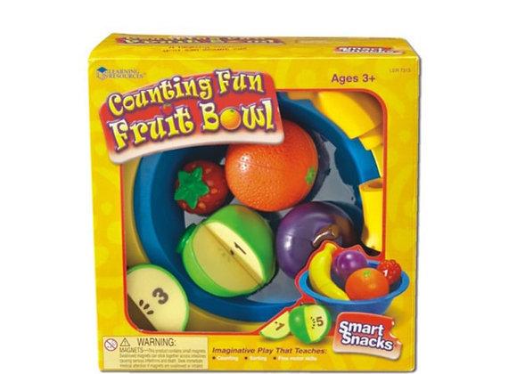 Platón con frutas para contar
