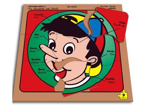Rompecabezas la carita de Pinocho