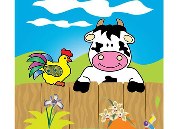 Rompecabezas vaca y gallina