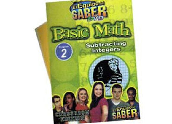 Matemáticas básicas módulo: 2  Substracción de enteros