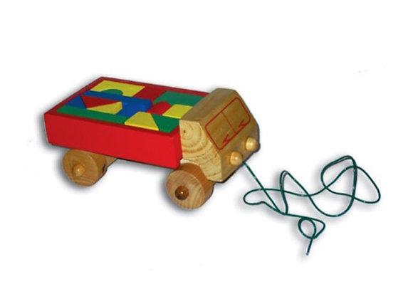 Camión con bloques en madera