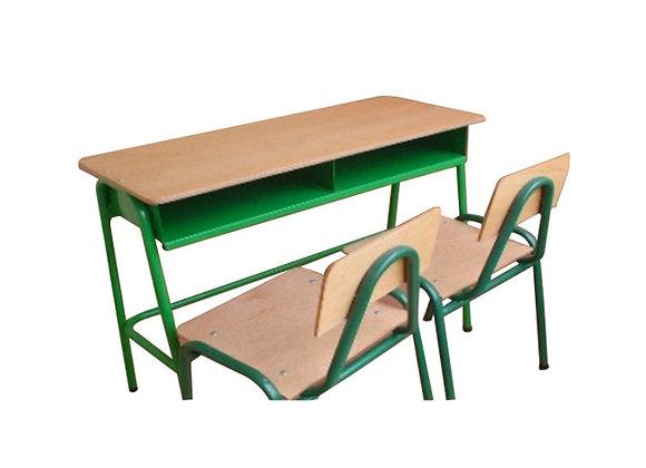 Pupitre bipersonal (1 mesa - 2 sillas)