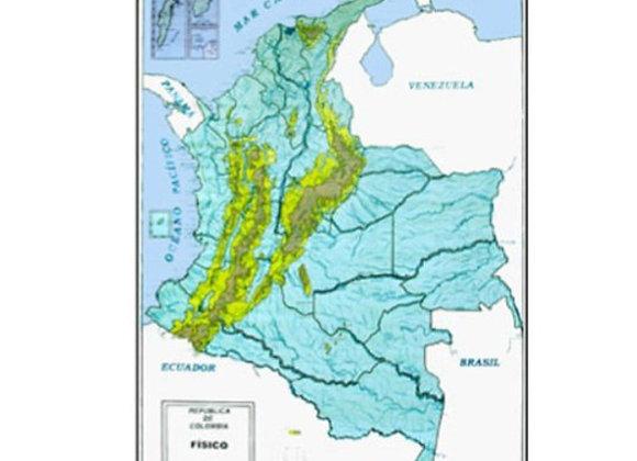 Mapa físico Colombia