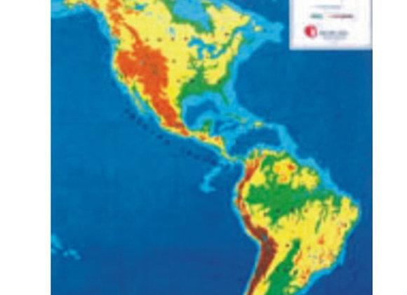 Mapa América físico