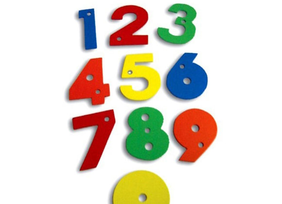 Juego de números en madera