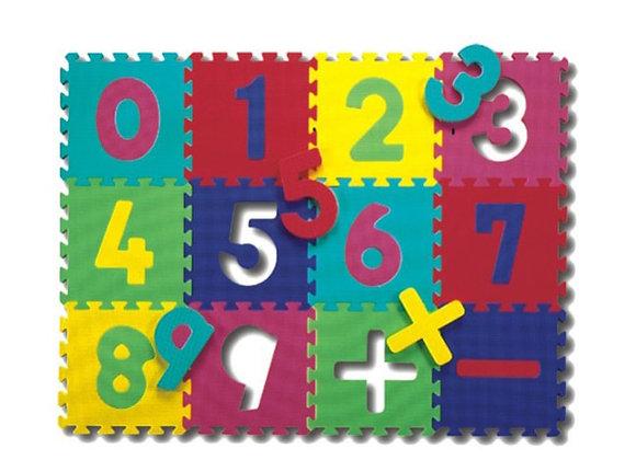 Tapete de números y signos