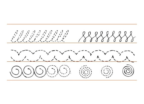 Planas en cursiva x 150 tamaño: 13.3x3.3 cm