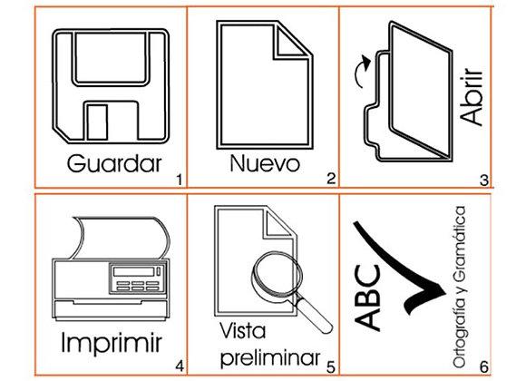 Iconos de office x 30 tamaño: 5.8x4.3 cm