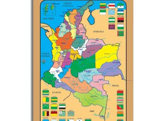 Rompecabezas mapa político de Colombia