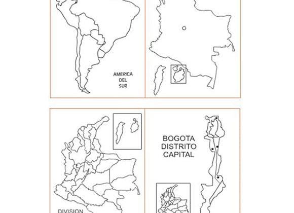 Mapas de Colombia tamaño: 12.9x9.6 cm