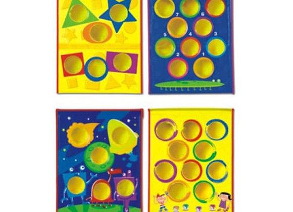 Juego de puntería y colores
