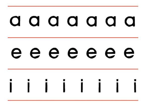 Planas en script x 120 tamaño: 13.3x3.3 cm