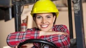 Women Working as Forklift Operators