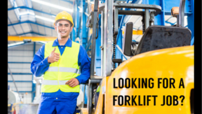 Forklift Jobs for January 11, 2021