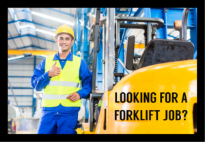 Forklift Jobs for March 31, 2021
