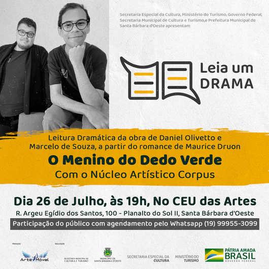 """Dia 25/07 - NAC faz a leitura da dramática da peça """"O Menino do Dedo Verde"""""""