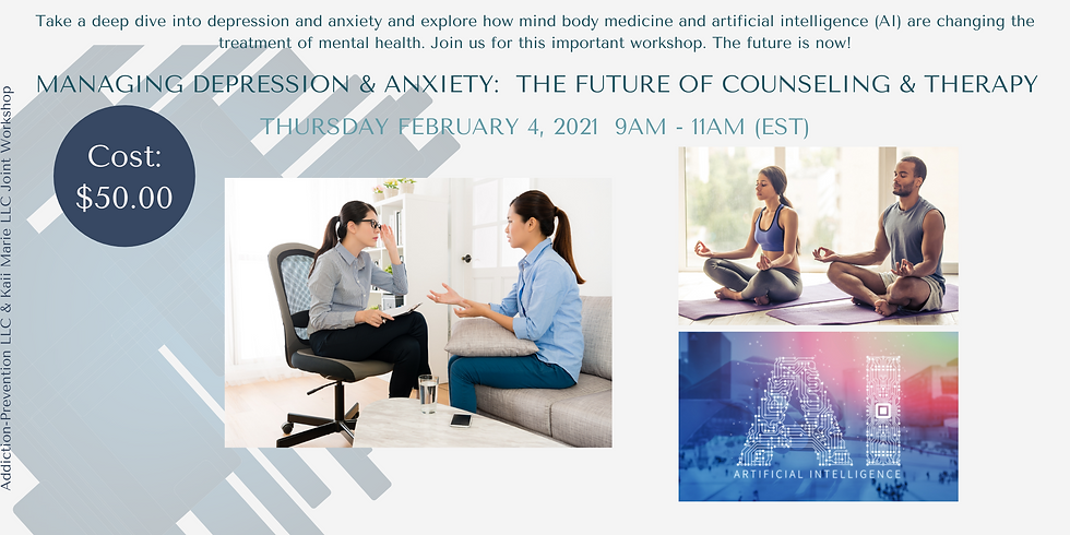Managing Depression and Anxiety: The Future of Counseling and Therapy