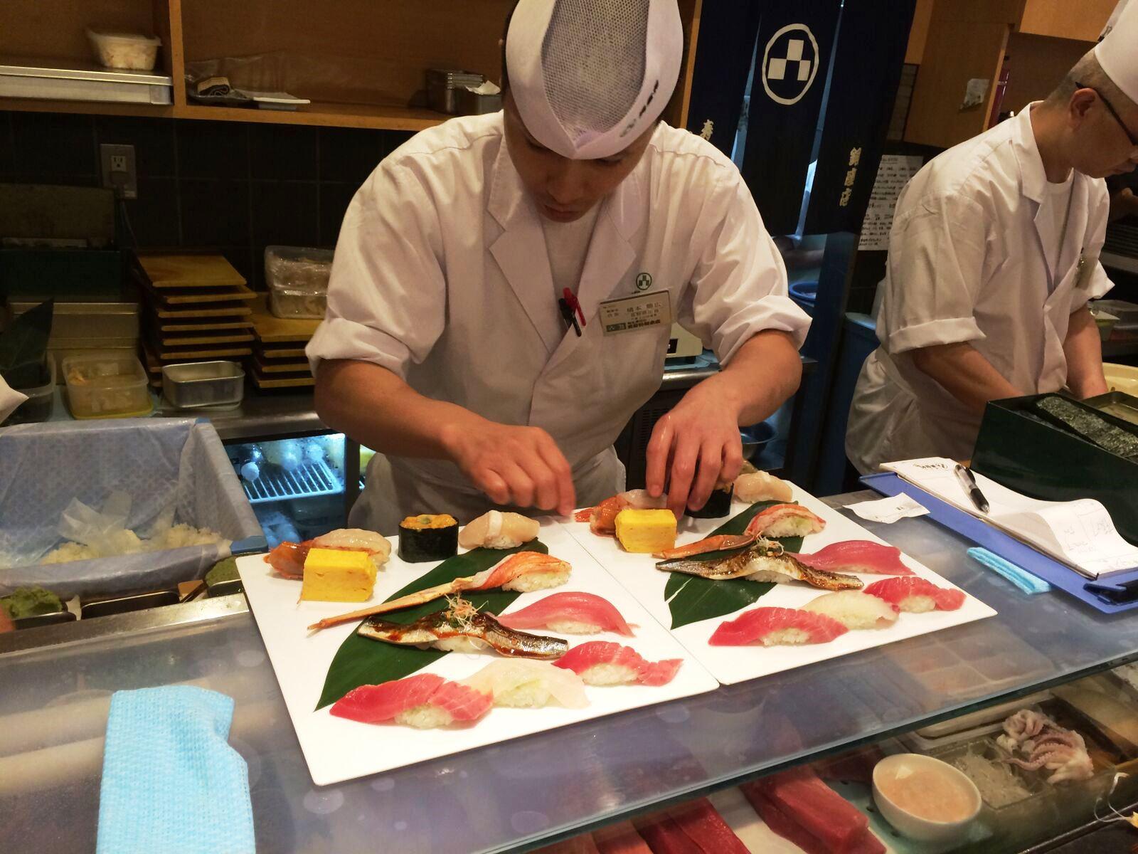 Sushi chef at Midori Sushi
