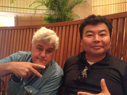 Jay Leno and me in Japan