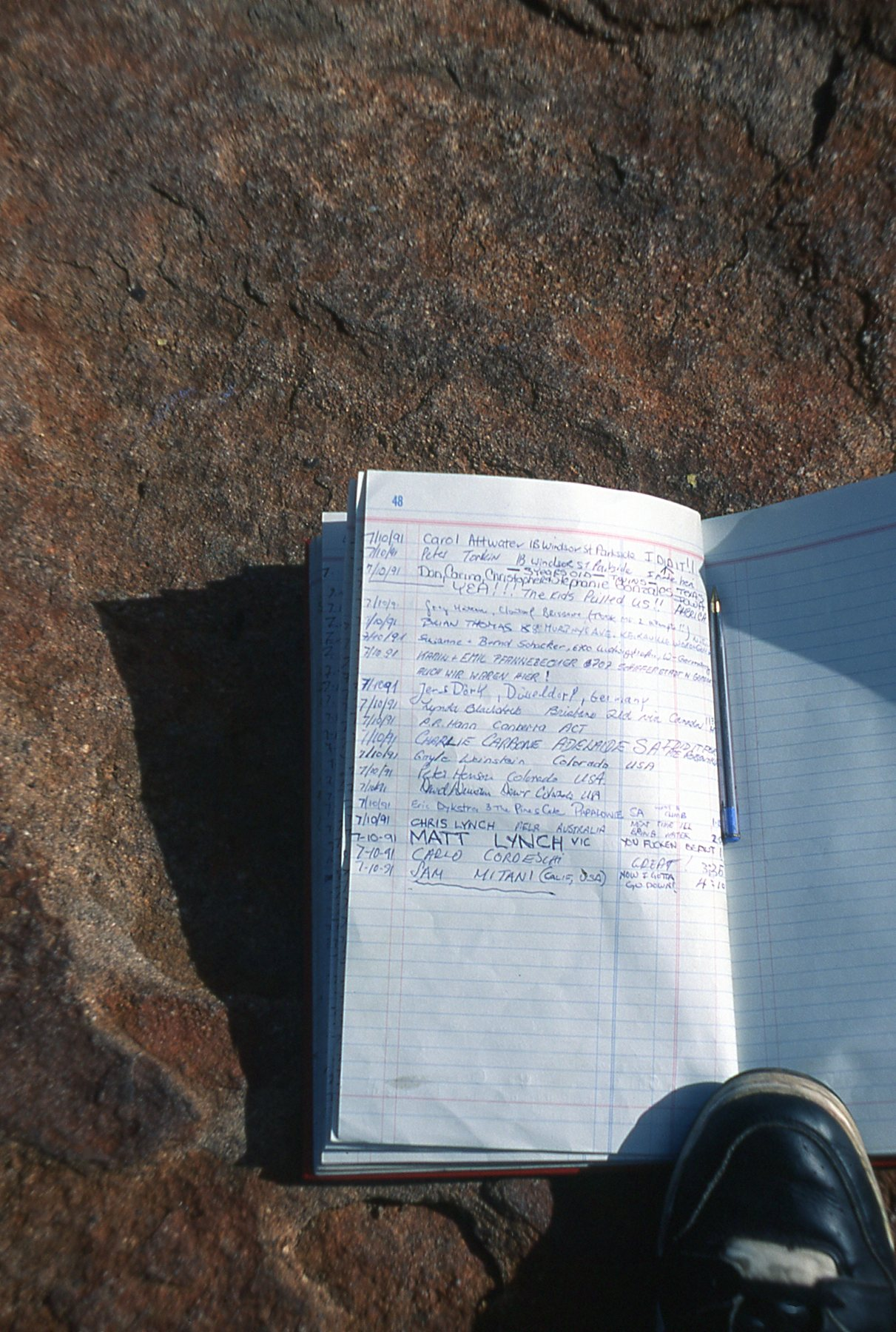 Leaving proof I climbed Ayers Rock