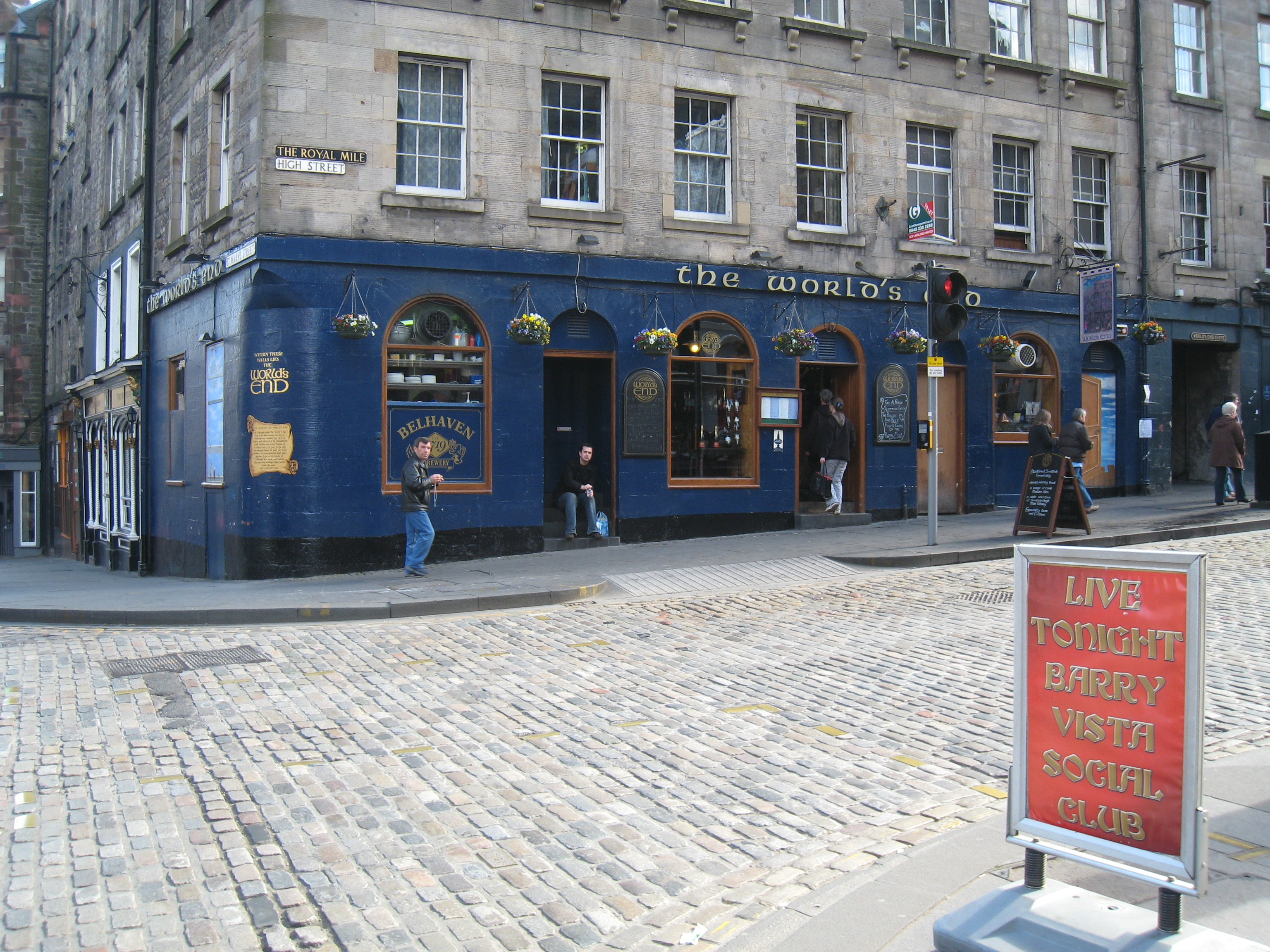 Beers at famous Scottish pub
