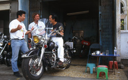 A bike repair shop in HCM City