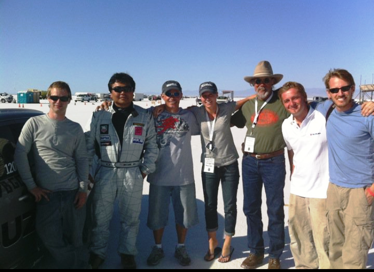 The Bonneville Record-breaking Team