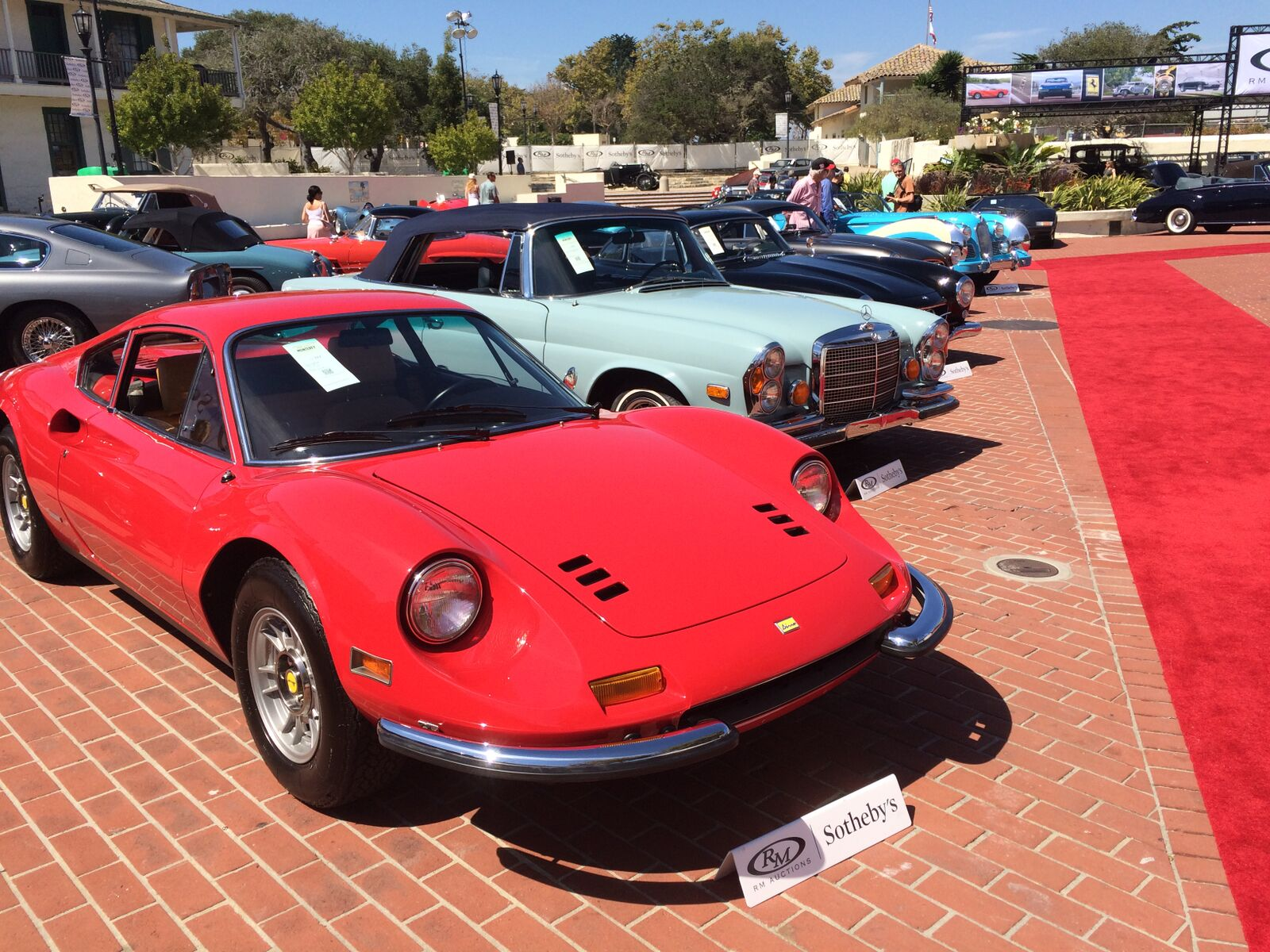 Ferrari Dino at an auction