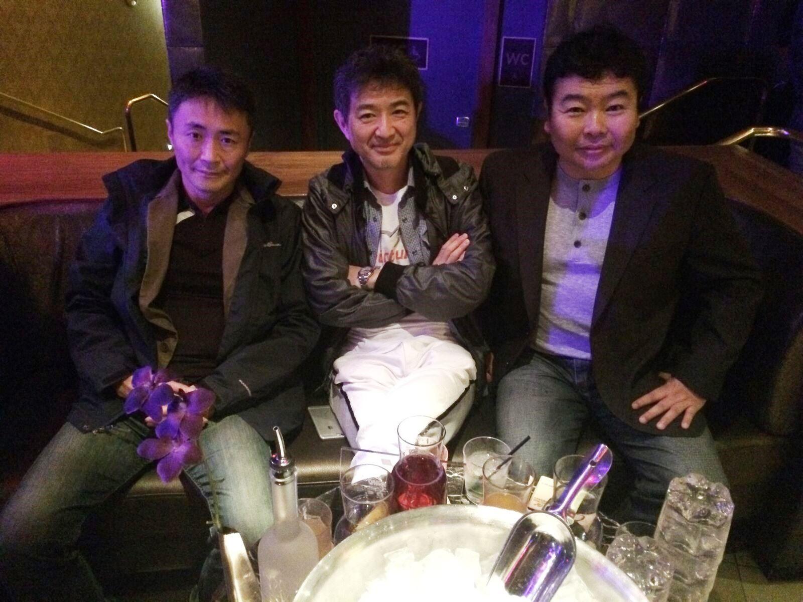 K. Yamauchi, H. Tamura and me in LV