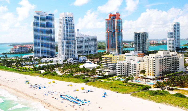Miami Beach South of Fifth, Portofino Tower, Continuum Towers, Apogee, Murano
