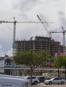 Paramount Miami World Center en construction, photo prise le 20 Juillet 2017