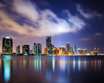 Brickell Miami de nuit