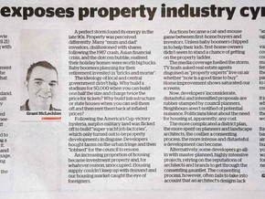 Jackson exposes property industry cynicism