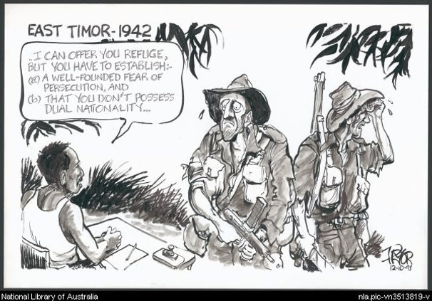 Pryor, Geoff, 1995. East Timor - 1942 [Australian soldiers offered refuge by East Timorese]