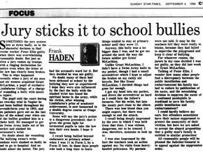 Jury sticks it to school bullies