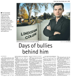 Days of bullies behind him