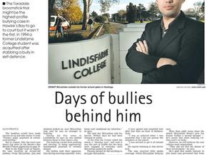 Days of bullies behind him