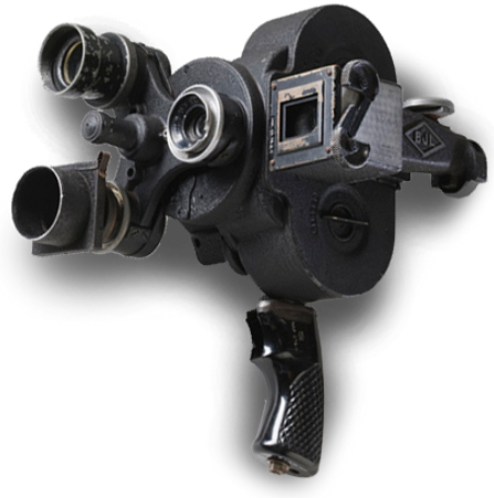 An Eyemo motion picture camera used by Damien Parer.