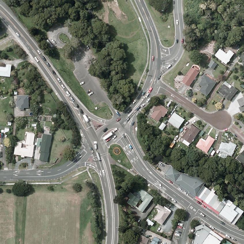 Warkworth's spaghetti junction creates plenty of queues. Photo / Auckland Council