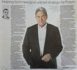 Helping form new govt untried strategy for Peters