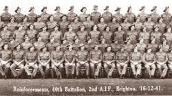 Reinforcements, 40th Battalion, 2nd A.I.F., Brighton, 16 December 1941