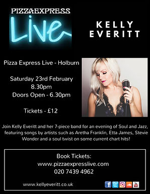 Kelly Everitt _ Pizza Express Live - Hol