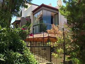 Luxury villa with private garden on site with pool