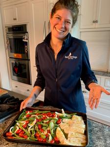 Mary Hudson, MCFA staff & halibut chef!